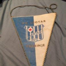 Coleccionismo deportivo: F.K. LEOTAR, TREBINJE, 1925, BANDERÍN FUTBOL, SERBIA 33CM. Lote 76049815