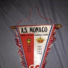 Coleccionismo deportivo: A.S. MÓNACO, BANDERÍN DE FUTBOL, CON SU PALMARÉS. 26CM. Lote 76086495