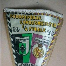 Coleccionismo deportivo: BANDERÍN REAL MADRID. AÑO 1976. EUROPA. FUTBOL.. Lote 78433865
