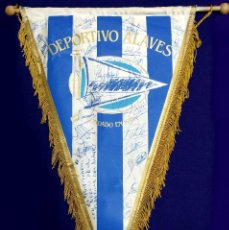 Coleccionismo deportivo: ANTIGUO BANDERIN DEL DEPORTIVO ALAVES. FIRMADO POR LA PLANTILLA 1991-1992. FUTBOL. AUTOGRAFO. FIRMAS. Lote 79764225