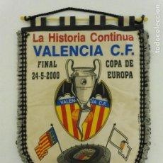 Coleccionismo deportivo: BANDERIN DE LA FINAL DE LA COPA DE EUROPA VALENCIA C.F. - R.MADRID EL 24-5-2000 EN PARIS. Lote 80067385