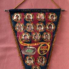 Coleccionismo deportivo: BANDERÍN FÚTBOL CLUB BARCELONA. CAMPIO LLIGA 1984/85. CAMPEÓN DE LIGA 1984/85.. Lote 80379561