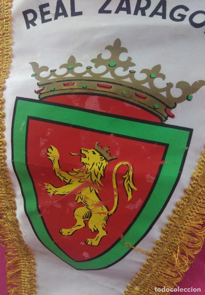 BANDERIN VINTAGE FUTBOL REAL ZARAGOZA (Coleccionismo Deportivo - Banderas y Banderines de Fútbol)