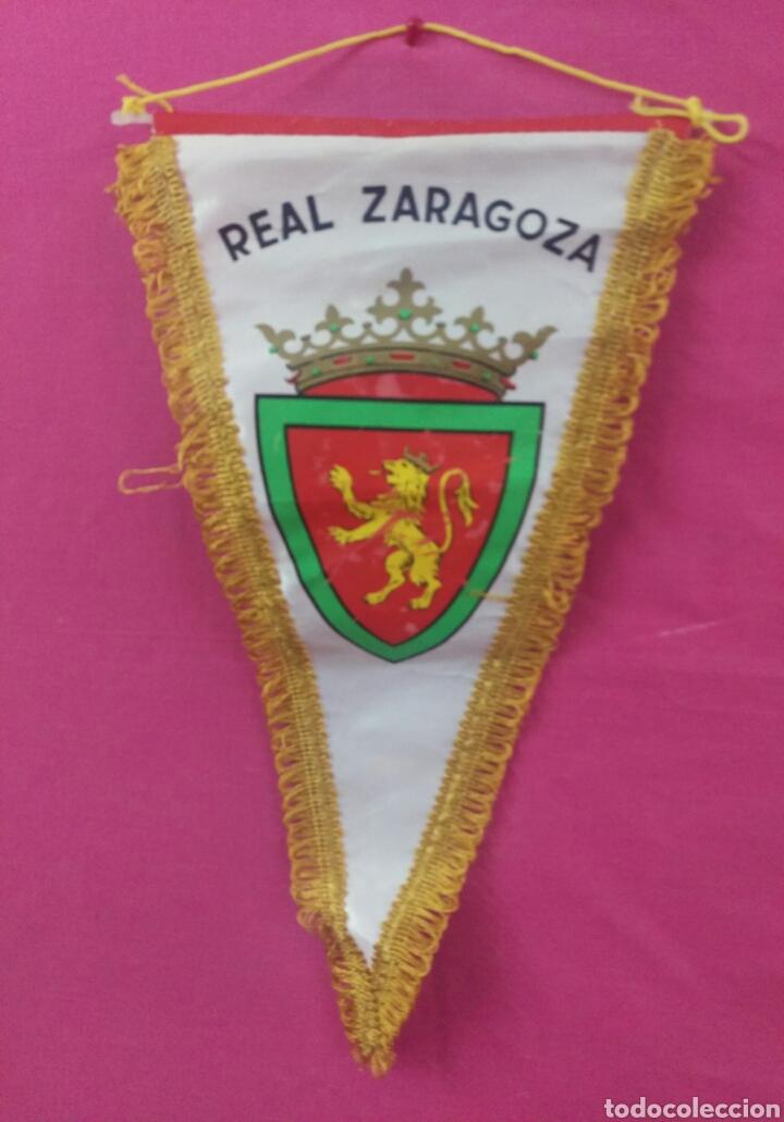 Coleccionismo deportivo: BANDERIN VINTAGE FUTBOL REAL ZARAGOZA - Foto 2 - 80572870