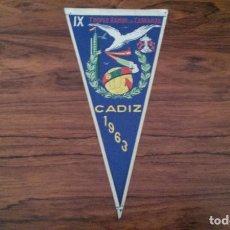 Coleccionismo deportivo: BANDERIN IX TROFEO RAMÓN DE CARRANZA CADIZ 1963 FUTBOL. Lote 80803959