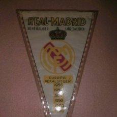 Coleccionismo deportivo: ANTIGUO BANDERIN DEL REAL MADRID MUY DIFICIL PARA ENTENDID@S Y COLECCIONISTAS.CAMPEON EUROPA. Lote 141231376