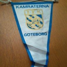 Collezionismo sportivo: ANTIGUO BANDERÍN FÚTBOL KAMRATERNA GOTEMBURGO SUECIA- IFK 26*14 CM. Lote 84030879