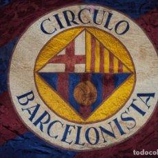 Coleccionismo deportivo: (F-170425)BANDERA-ESTANDARTE BORDADO DEL CIRCULO BARCELONISTA-C.F.BARCELONA.24 SEPTIEMBRE 1953. Lote 84684032