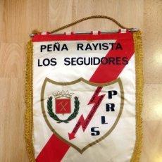 Collezionismo sportivo: ANTIGUO BANDERIN PEÑA RAYISTA LOS SEGUIDORES, RAYO VALLECANO,AÑOS 70,41 CMS. Lote 85714912