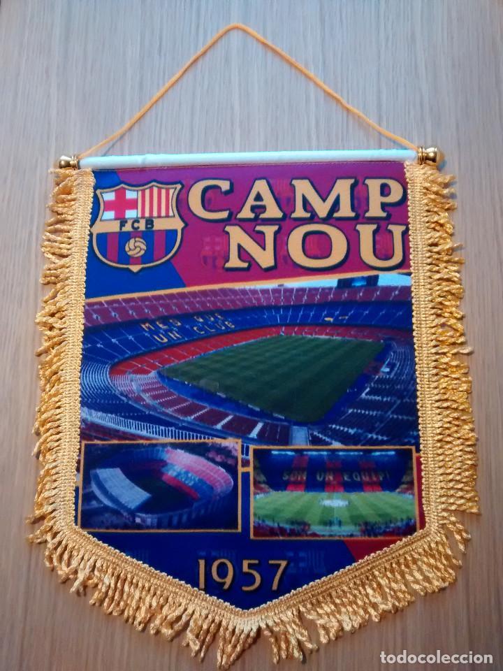 BANDERIN F.C.BARCELONA CAMP NOU (Coleccionismo Deportivo - Banderas y Banderines de Fútbol)
