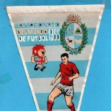 Coleccionismo deportivo: BANDERIN PUBLICIDAD DE DETERGENTE GIOR DEL CAMPEONATO DEL MUNDO DE FUTBOL AÑO 1966 INGLATERRA . Lote 87335056