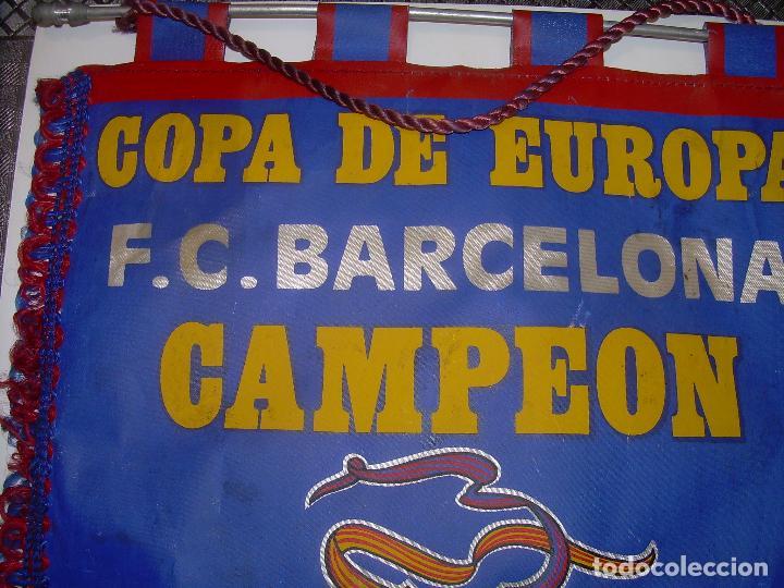 Coleccionismo deportivo: BANDERIN ..F.C. BARCELONA...CAMPEON EUROPA COPA 1.992 - Foto 2 - 93757570