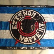 Coleccionismo deportivo: BANDERA ULTRAS DEL ALAVES EZTANDA NORTE H.T AÑO 1994. Lote 95569895