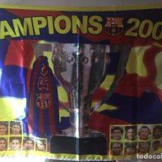 Coleccionismo deportivo: BANDERA F.C. BARCELONA CAMPIONS 2006 SPORT. Lote 96108583