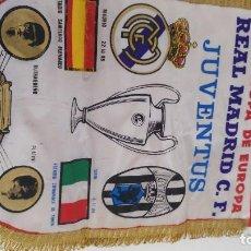 Coleccionismo deportivo: ANTIGUO BANDERIN COPA EUROPA REAL MADRID JUVENTUS . Lote 97694167