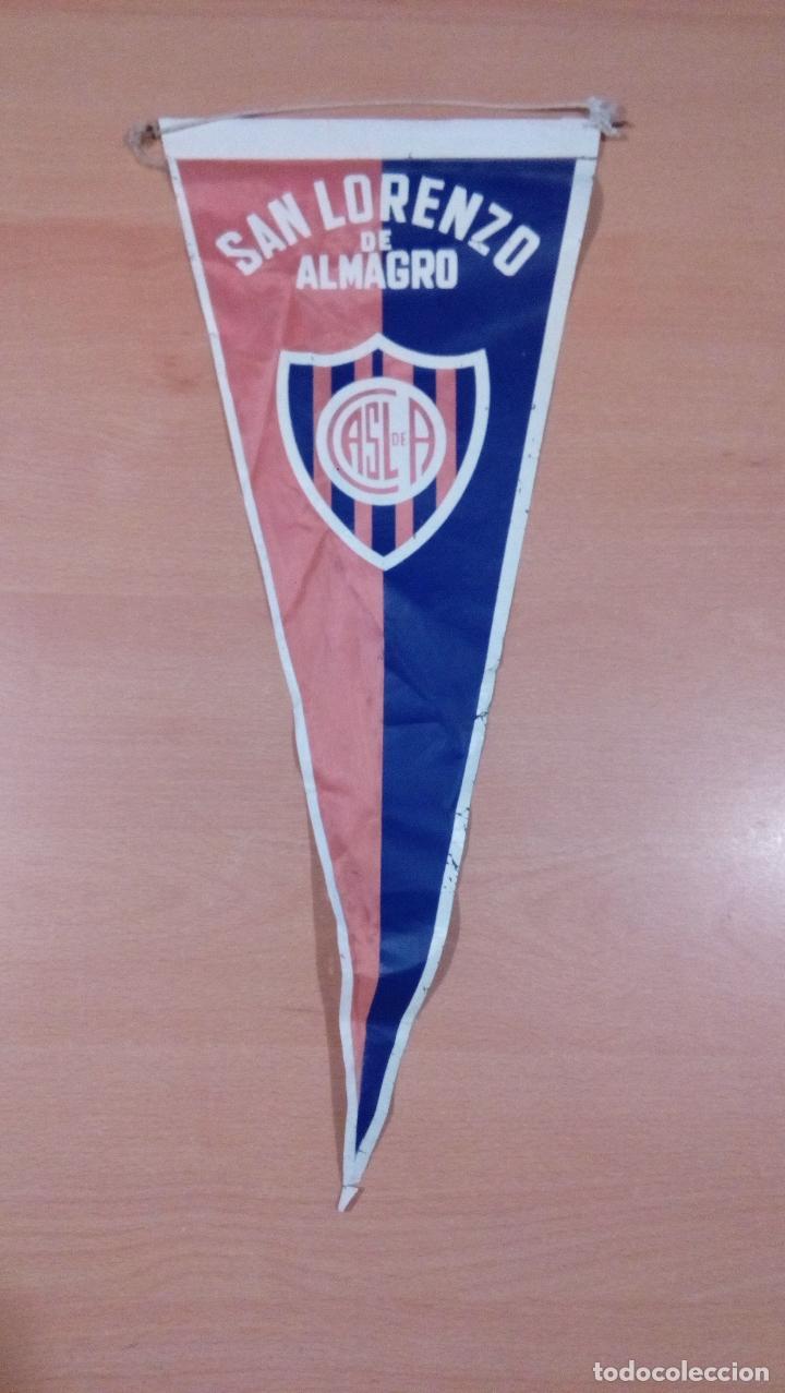 ANTIGUO BANDERIN SAN LORENZO DE ALMAGRO - ARGENTINA - VER FOTOS (Coleccionismo Deportivo - Banderas y Banderines de Fútbol)