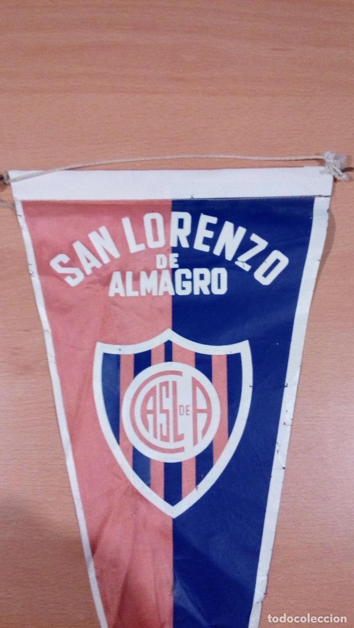 Coleccionismo deportivo: antiguo banderin san lorenzo de almagro - argentina - ver fotos - Foto 2 - 98142595
