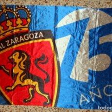 Coleccionismo deportivo: BANDERA ESTANDARTE REAL ZARAGOZA 75 ANIVERSARIO. FÚTBOL. GRAN FORMATO!! EXCELENTE ESTADO. CALIDAD!!. Lote 98163247