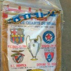 Coleccionismo deportivo: BANDERIN DE 1/4 DE LA CHAMPIONS DEL 91-92 FCBARCELONA. Lote 98590575