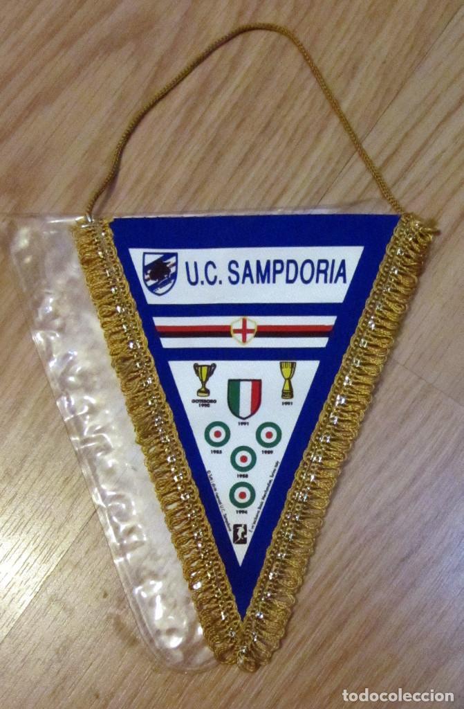 BANDERIN PENNANT GAGLIARDETTO UC SAMPDORIA SCUDETTO 1991 CALCIO FUTBOL FOOTBALL (Coleccionismo Deportivo - Banderas y Banderines de Fútbol)