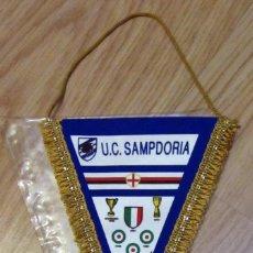 Coleccionismo deportivo: BANDERIN PENNANT GAGLIARDETTO UC SAMPDORIA SCUDETTO 1991 CALCIO FUTBOL FOOTBALL. Lote 98605247