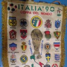 Coleccionismo deportivo: ANTIGUO BANDERIN MUNDIAL FUTBOL ITALIA 90. Lote 100072747