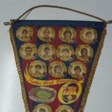 Coleccionismo deportivo: BANDERIN PEQUEÑO HISTORIAL DEL FÚTBOL CLUB BARCELONA .. Lote 102240883