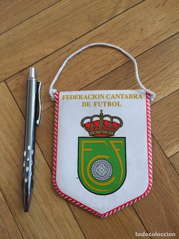 CJ BANDERIN ORIGINAL PEQUEÑO FEDERACION CANTABRA DE FUTBOL (Coleccionismo Deportivo - Banderas y Banderines de Fútbol)