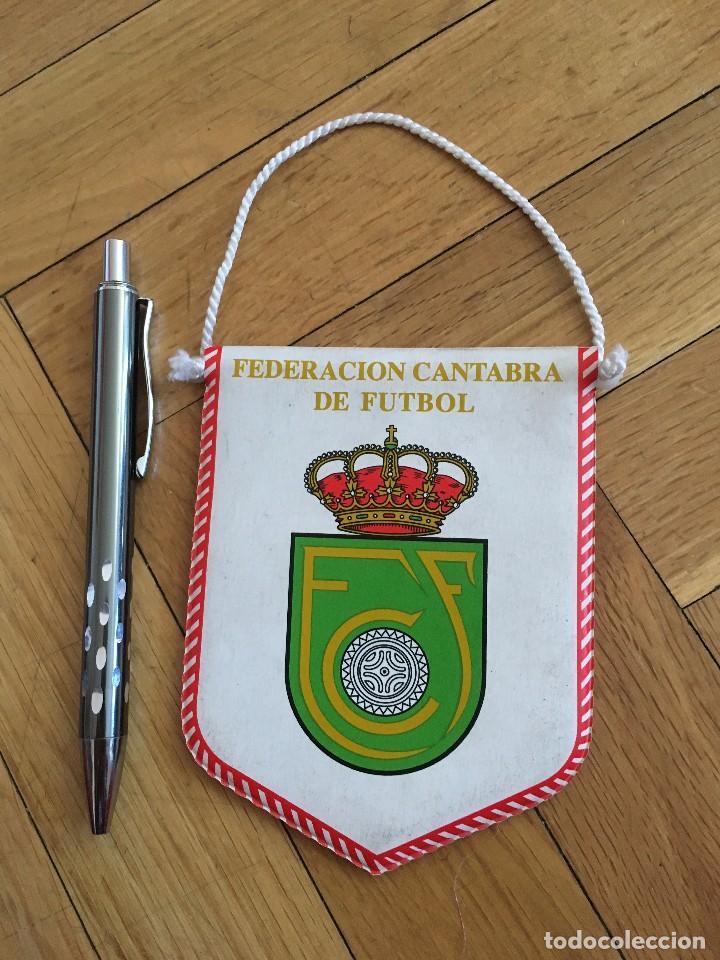 Coleccionismo deportivo: CJ BANDERIN ORIGINAL PEQUEÑO FEDERACION CANTABRA DE FUTBOL - Foto 2 - 129417090