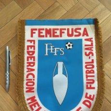 Coleccionismo deportivo: CJ BANDERIN ORIGINAL FEDERACION MELILLENSE DE FUTBOL SALA FEMEFUSA. Lote 102399599