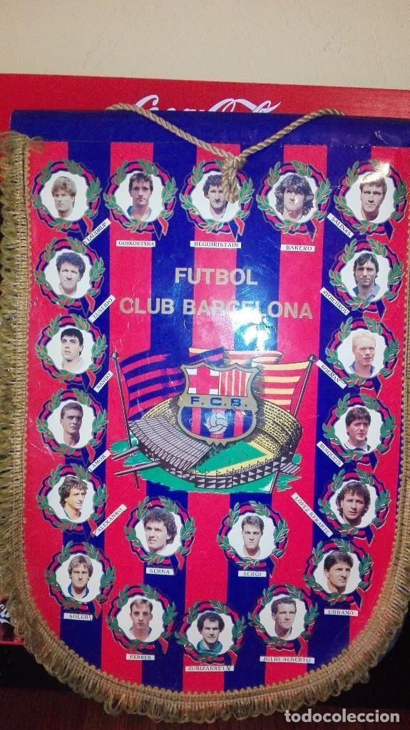 BANDERIN FUTBOL CLUB BARCELONA (Coleccionismo Deportivo - Banderas y Banderines de Fútbol)