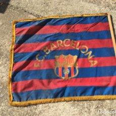 Coleccionismo deportivo: GRAN BANDERA DEL FCB BARCELONISTA PIEZA ANTIGUA BARÇA FUTBOL CLUB BARCELONA. Lote 103597851