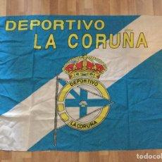 Coleccionismo deportivo: BANDERA DEPORTIVO LA CORUÑA. DEPOR FUTBOL. Lote 104686379