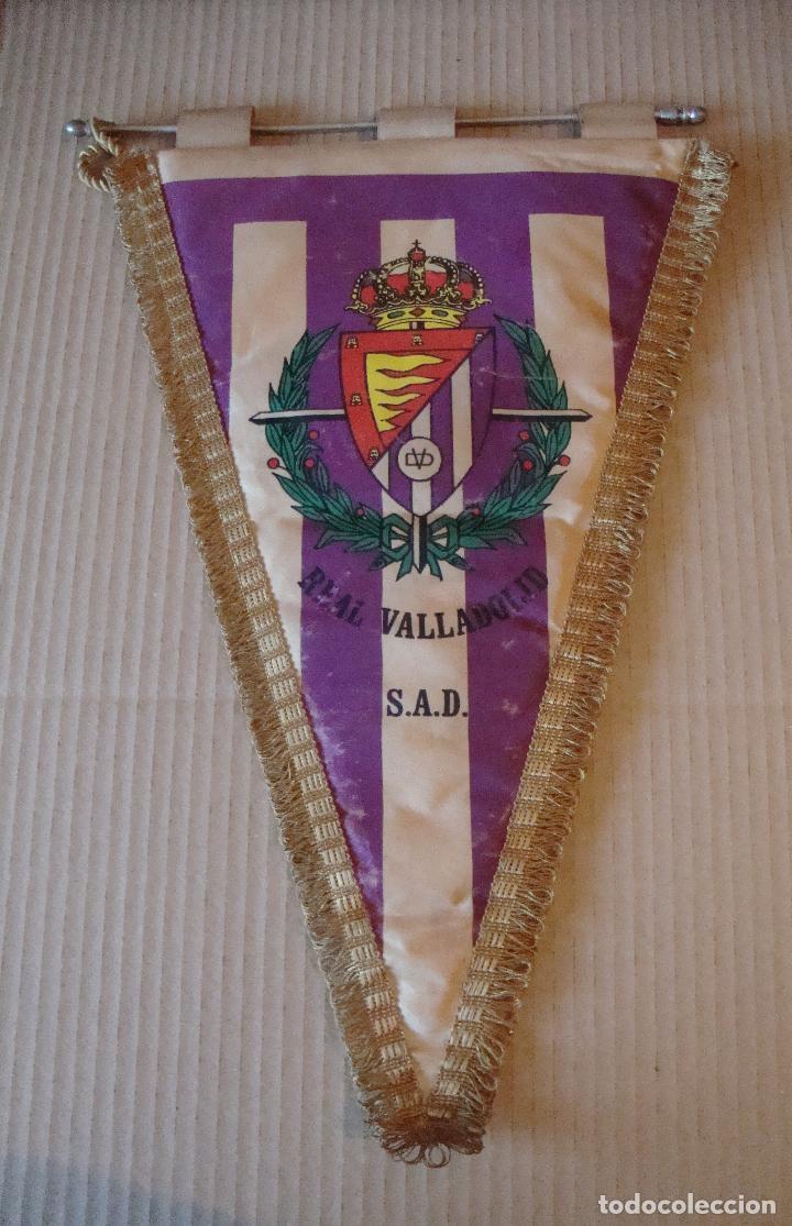 ANTIGUO BANDERIN REAL VALLADOLID SAD (Coleccionismo Deportivo - Banderas y Banderines de Fútbol)