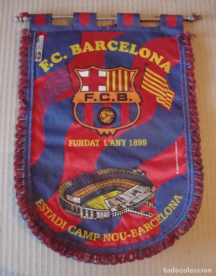 ANTIGUO BANDERIN F. C. BARCELONA (Coleccionismo Deportivo - Banderas y Banderines de Fútbol)