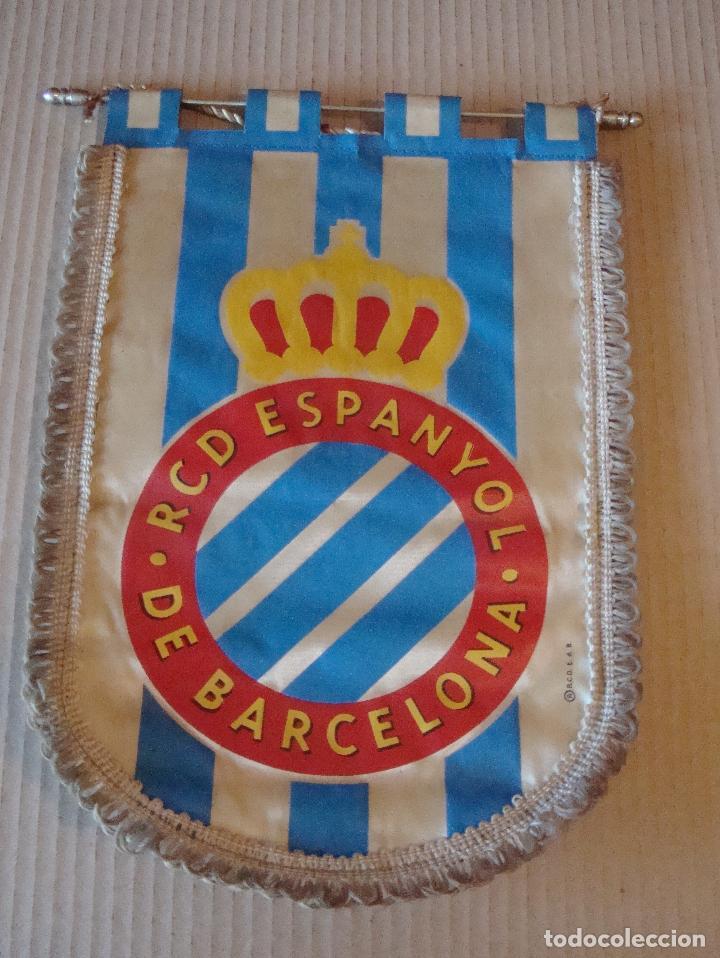 ANTIGUO BANDERIN R. C. D. ESPANYOL (Coleccionismo Deportivo - Banderas y Banderines de Fútbol)