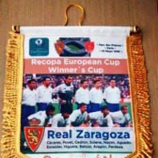 Coleccionismo deportivo: BANDERIN REAL ZARAGOZA - ARSENAL FINAL RECOPA. Lote 107264755