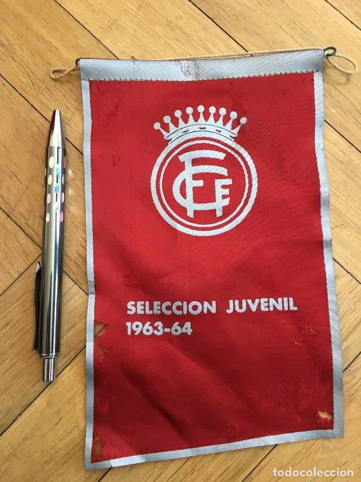 ANTIGUO BANDERIN FEDERACION CATALANA DE FUTBOL SELECCION JUVENIL 1963 1964 (Coleccionismo Deportivo - Banderas y Banderines de Fútbol)
