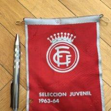 Coleccionismo deportivo: ANTIGUO BANDERIN FEDERACION CATALANA DE FUTBOL SELECCION JUVENIL 1963 1964. Lote 107290355