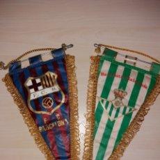 Coleccionismo deportivo: ANTIGUOS BANDERINES FC BARCELONA Y REAL BETIS BALOMPIÉ. Lote 107796403