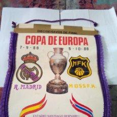 Coleccionismo deportivo: BANDERIN COPA DE EUROPA REAL MADRID DIECISEISAVOS DE FINAL. Lote 110089771