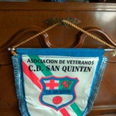 Coleccionismo deportivo: ALMERIA FUTBOL CD SAN QUINTIN BANDERIN 36 CMS ALTURA. Lote 110106136