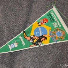 Coleccionismo deportivo: ANTIGUO BANDERÍN - CAMPEONATO DEL MUNDO DE FÚTBOL DE 1966 BRASIL - VINTAGE - ANTIGUO Y ORIGINAL. Lote 112923587
