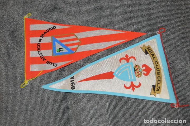 Coleccionismo deportivo: LOTE DE 13 BANDERINES ANTIGUOS - CLUBES DE FÚTBOL - ORIGINALES - BARCELONA, BETIS, MALAGA, CELTA... - Foto 4 - 112925247