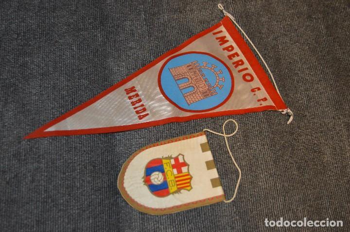 Coleccionismo deportivo: LOTE DE 13 BANDERINES ANTIGUOS - CLUBES DE FÚTBOL - ORIGINALES - BARCELONA, BETIS, MALAGA, CELTA... - Foto 15 - 112925247