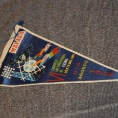 Coleccionismo deportivo: ANTIGUO BANDERÍN - VI TORNEO INTERNACIONAL DE FÚTBOL COSTA DEL SOL 1966 - VINTAGE - ANTIGUO ORIGINA. Lote 113205995
