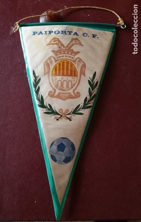 ANTIGUO BANDERÍN PARA COCHE. PAIPORTA C.F. AÑOS 60. FÚTBOL. (Coleccionismo Deportivo - Banderas y Banderines de Fútbol)