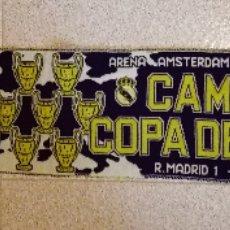 Coleccionismo deportivo: BUFANDA DEL REAL MADRID.6° CAMPEONATO DE EUROPA 1998. Lote 113816075