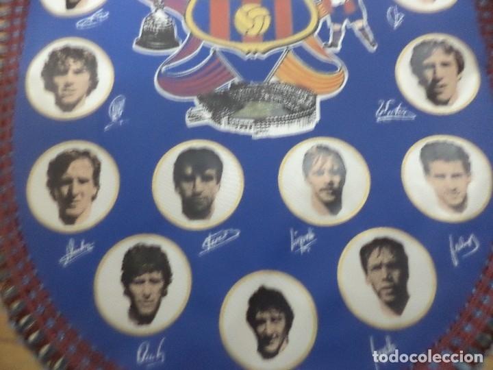 Coleccionismo deportivo: Banderín del F.C.Barcelona temporada 1984 /85.Archibald,Schuster,Lobo Carrasco,Victor.... - Foto 3 - 113996083