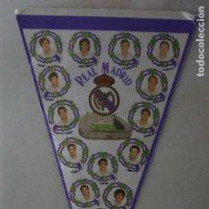 Coleccionismo deportivo: GRAN BANDERIN REAL MADRID CF 1986 GRAN EQUIPO QUINTA BUITRE. Lote 114778267